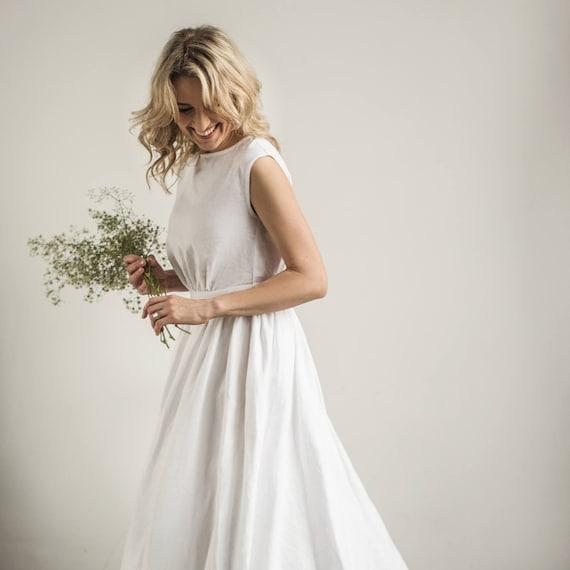Linen greek wedding dress linen wedding dress modest wedding   Etsy