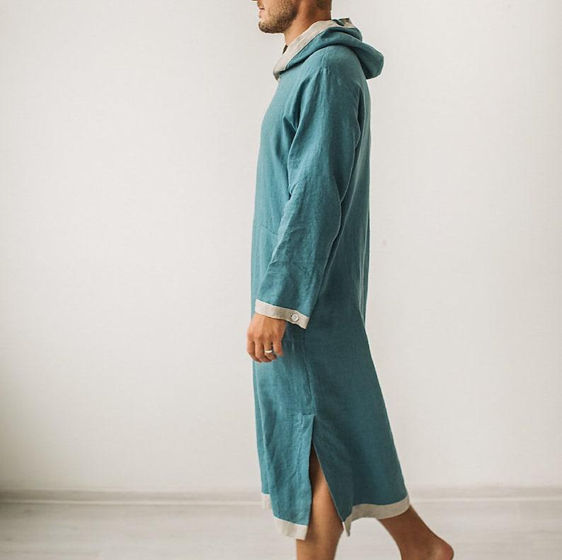 mens robe hooded kaftan mens kaftan caftan Linen kaftan for men linen caftan kaftan mens caftan caftan men linen robe hooded robe