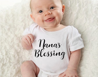 8541afe08 Nana's Blessing Infant Bodysuit Mama's Blessing Infant Bodysuit Mommy's  Blessing Infant Bodysuit Gigi's Blessing Infant Bodysuit