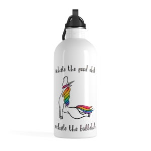 Corny Yoga Joke Birthday or Christmas Gift Idea For Workout or Walking Super Cute Funny Yoga Water Bottle For Him or Her