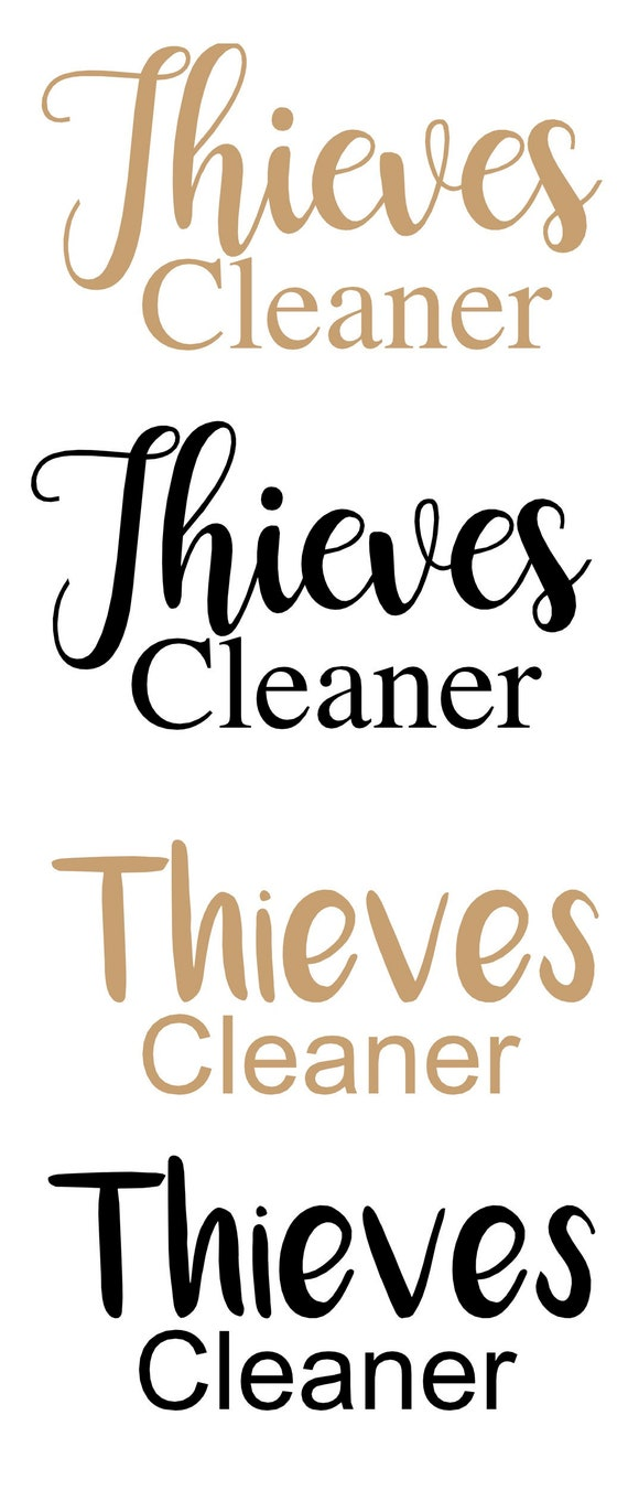 Thieves Cleaner Vinyl Decal Etsy