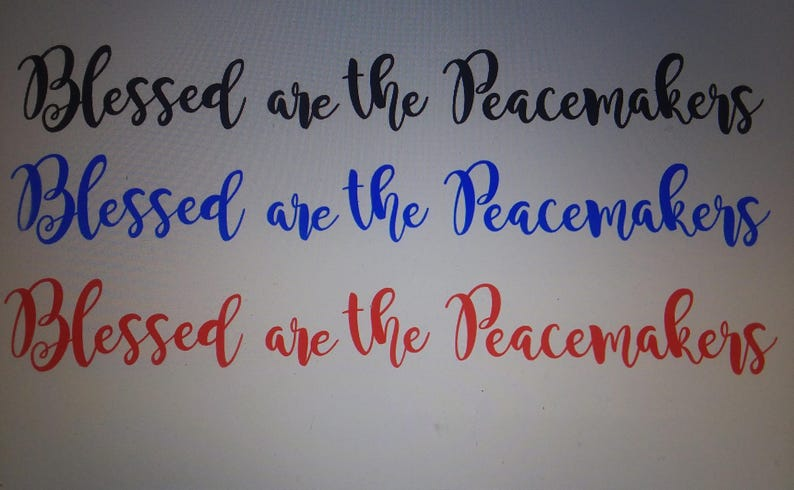Matthew 5:9 Blessed Are The Peacemakers Vinyl Wall Decal Sticker