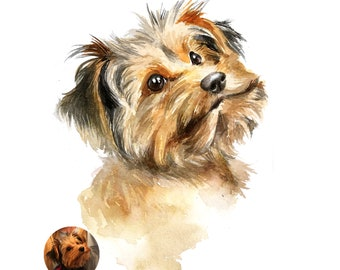 Dog portrait Custom portrait pet Watercolor portrait custom pet portrait custom art commission dog painting Watercolor from Romalena