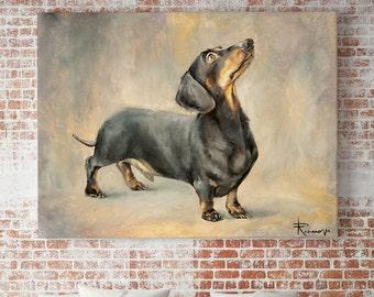 Custom dog oil portrait pet art commission animal portrait commission oil painting dog, cat, horse, animal