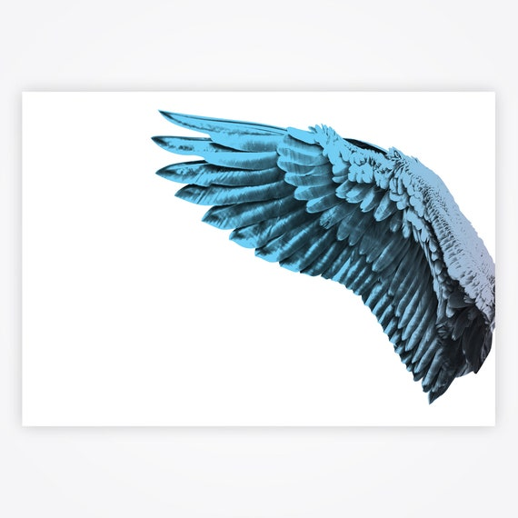 Bird Wings Print Colorful Bird Wings Gift Idea Love Set Of 2 Blue And Red Room Theme Large Wings Home Decor Bedroom Decoration Canvas