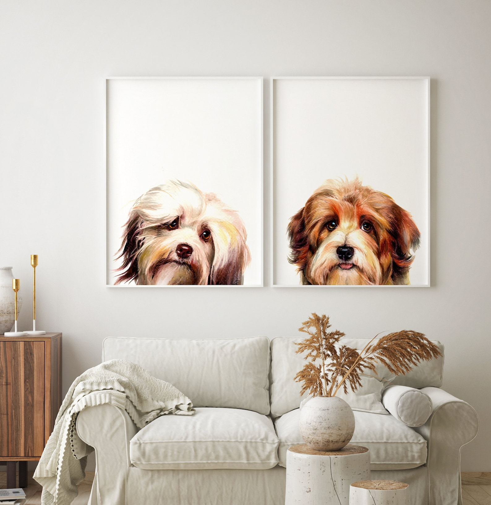 hand painted pet portrait gift