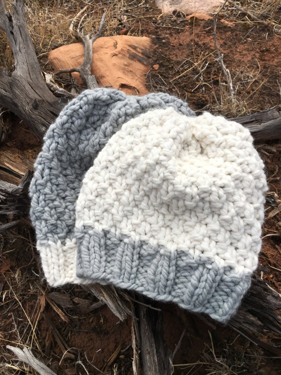KNITTING PATTERN Slouchy Pattern Hat Pattern Super Bulky | Etsy