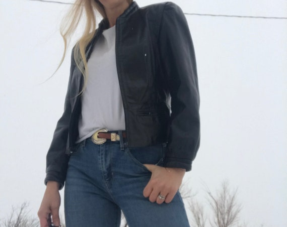 Vintage 80s Black Leather Jacket