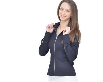 Black Women Jacket Collection Merlyn Lightweight Jacket Summer 90s Vintage poly Classic Woman Jacket  Luxury Cropped Jacket Short jacket