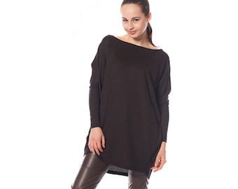 Black Jumper, Black jumper plus size, Black sweater, Knitted Jumper, Loose knit jumper, Oversized sweater, Plus size jumper, Sweater