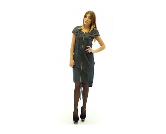 Denim Dress Plus Size Denim Dress Maxi Denim Dress Blue Etsy
