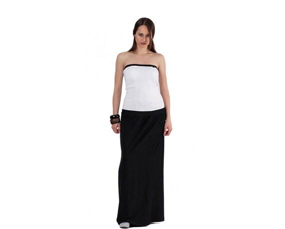 Bustier Dress Long Dress Black And White Dress Plus Size Etsy