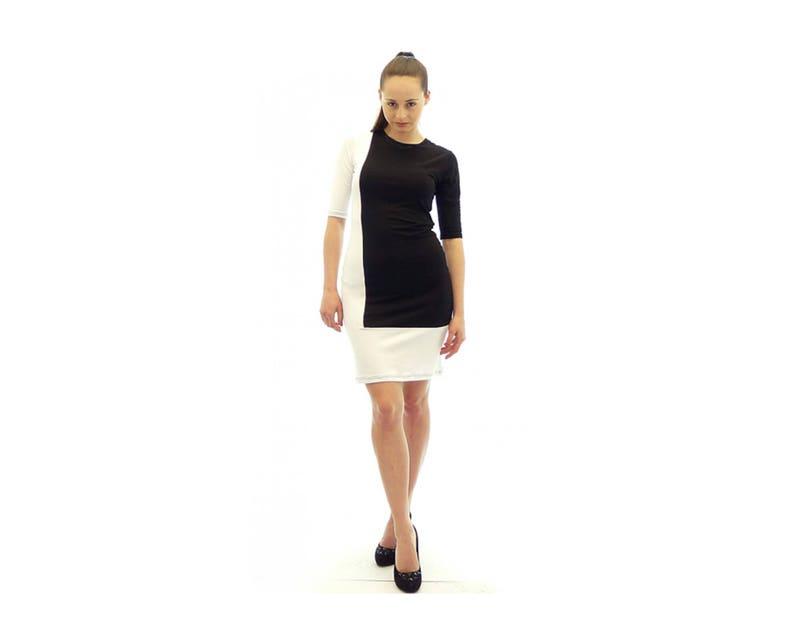 Black and White Dress Plus Size Maxi Dress Oversize Dress | Etsy