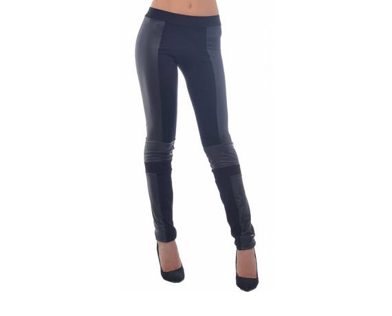 ff7fe797b3a4e Faux Leather Leggings Black Leather Leggings Extra Long | Etsy