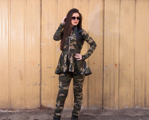 Brand pattern set Trendy women and new jacket women pattern camouflage Fresh Plus camouflage set set camouflage pants size Women women ITqg6w