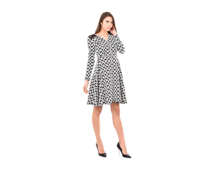 c0460935be32 Midi Dress Plus Size Dress Maxi Dress Black and White | Etsy