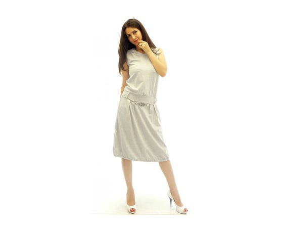 9886c924999 Plus Size Dress Maxi Size Dress Gray Knee Length Dress Boho