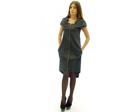 Denim Dress, Plus Size Denim Dress, Maxi Denim Dress, Blue Jean Dress, Knee  Length Denim Dress, Sleeveless Denim Dress, Women Denim