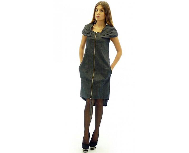 Denim Dress Plus Size Denim Dress Maxi Denim Dress Blue | Etsy