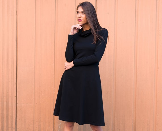 Plus Size Dress, Maxi Dress, Oversize Dress, Polo Dress, Black Dress, Midi  Dress, Long Sleeve Dress, Knee Length Dress, Trendy Dress