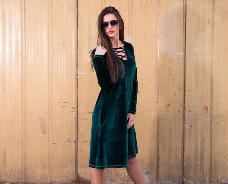 0644a70439425 Green Velvet Dress, Plus Size Velvet Dress, Maxi Velvet Dress, Oversize  Velvet Dress, Midi Dress, Boho Dress, Flaved Dress, Comfy Dress
