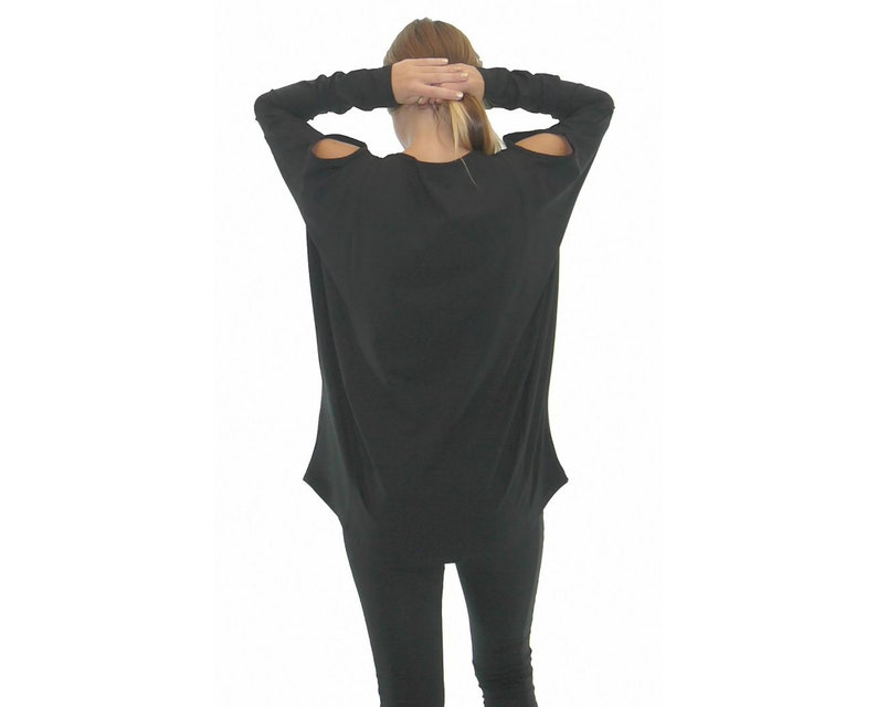 Plus Size Maxi Blouse Balloon Blouse 5XL 4XL Black Women Blouse Oversize Blouse Loose Blouse Long Sleeves Flaved Blouse Baggy Blouse