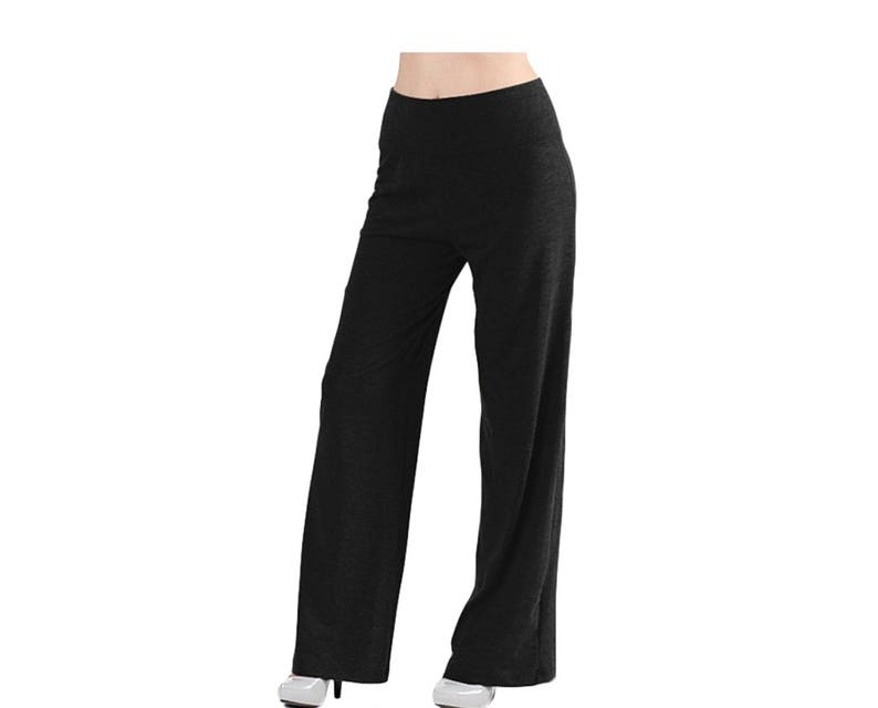 718d8cbcc00 Wide Leg Pants Plus Size Maxi Pants Oversize Pants Black