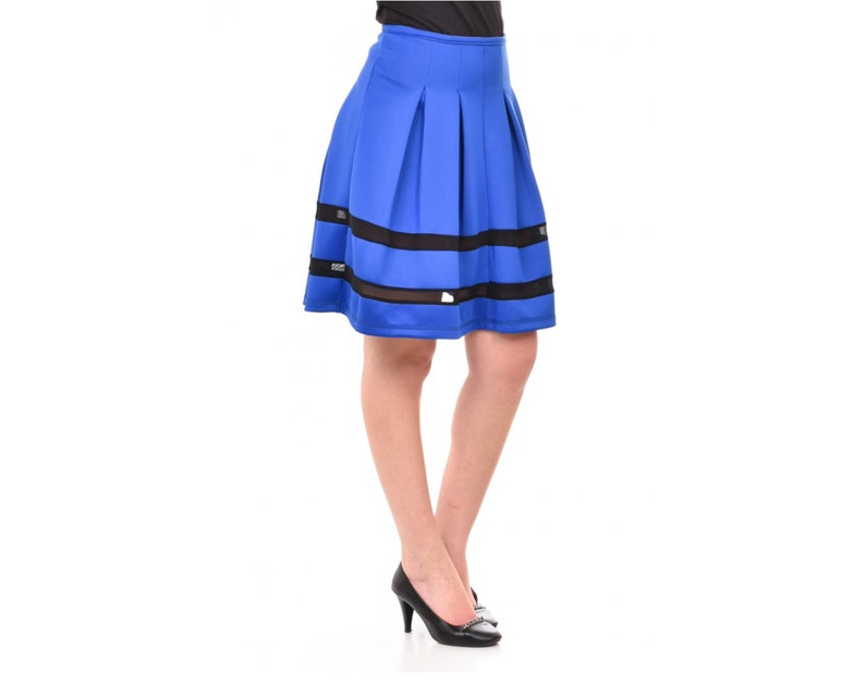 18510112f67 Blue Midi Skirt Blue Plus Size Skirt Blue Maxi Skirt Knee | Etsy