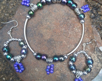 Bracelet and Earring Set with magnetic clasp