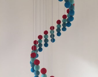 Baby mobile for crib Handmade crib mobile Felt balls Cot mobile Nursery decor