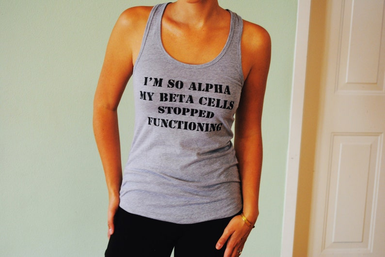 2d64f83df3 I'm So Alpha Tank Diabetes Awareness Shirt   Etsy