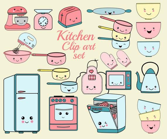 Kawaii k che clip art k che cliparts set kochen etsy - Kawaii kochen ...