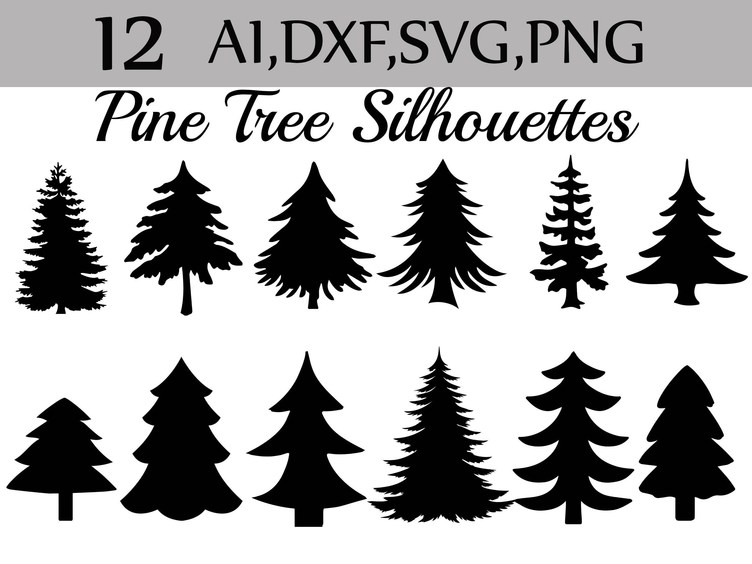 Svg Pine Tree clipart: SILHOUETTES PINE TREE | Etsy