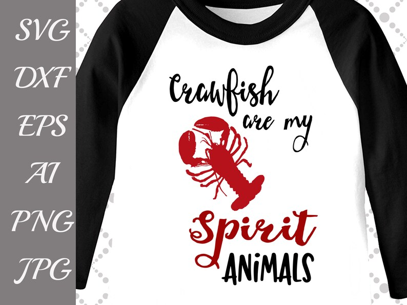 2f1f6a3815 Crawfish are my spirit animals Svg: CRAB SVG | Etsy