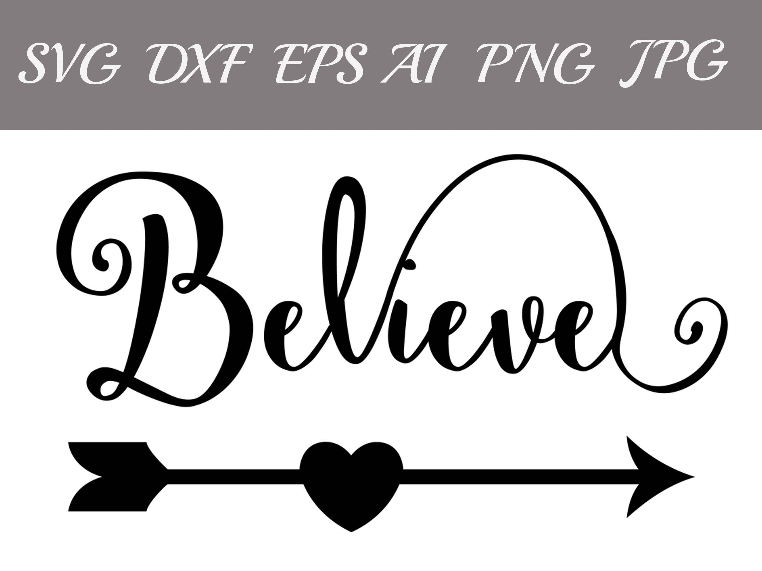 Believe Svg: SIGN SVG Christmas SvgDigital   Etsy