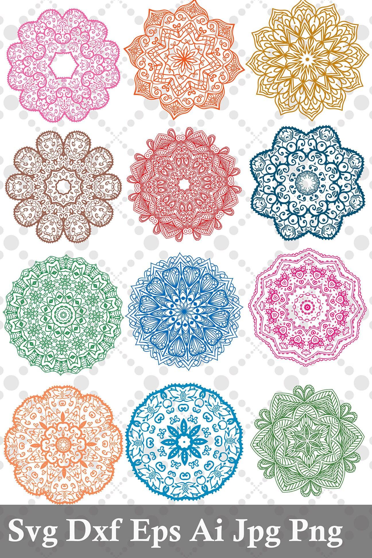 Mandala Svg: MANDALA BUNDLE SVG Mandala Circles | Etsy
