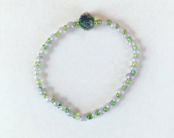 Lavender garden bracelet