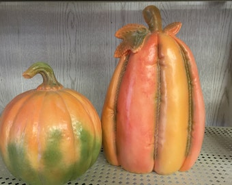 Set of beautiful Fall Pumpkins