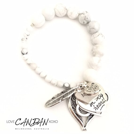 Youre Always In My Heart Bracelet With Real Leather and Charm Bracelet