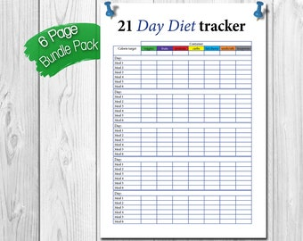 photo about 21 Day Fix Printable Sheets identify 21 working day maintenance tracker Etsy