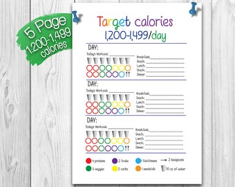 photo relating to 21 Day Fix Printable identified as 21 working day repair Etsy