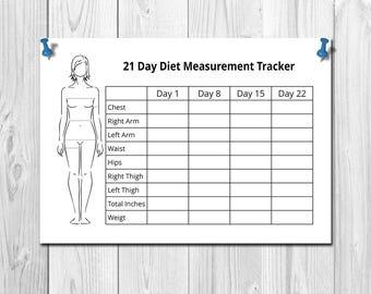 21 Day Fix Body Measurement Tracker