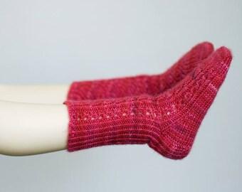 Cherry Soda Bomb - Handknit Doll Socks for 1/3 SD13 BJD