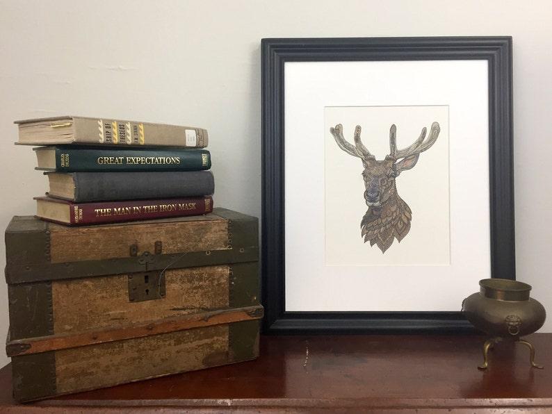 Reindeer Painting image 0