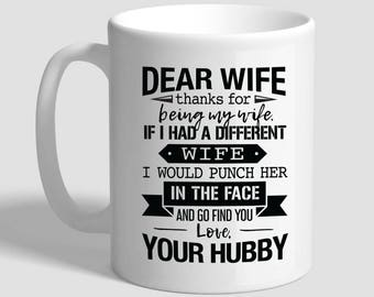 Wife Love Hubby Husband To Gift For Birthday Mug Wifey Present Funny