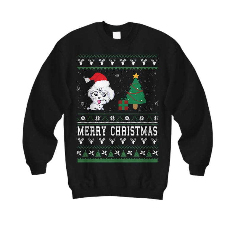 2c7bed0be165 Merry Christmas Maltese Maltese Gifts Maltese Sweatshirt | Etsy