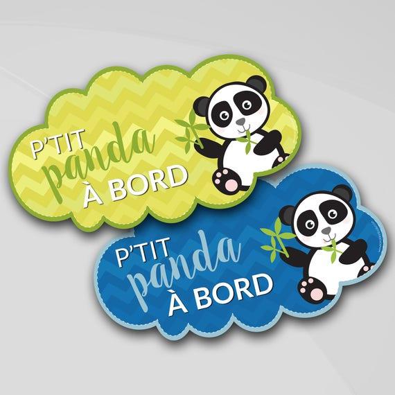Sticker voiture Bebe a bord Panda