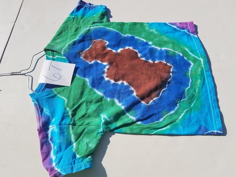 tee top girl rainbow clothes boy unisex toddler guitar back to school short sleeve hippie 6t bright tye dye