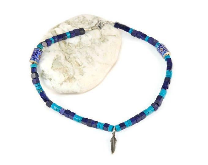 Boho Free Spirit * Statement Charm Boho Necklace. Boho Jewelry. Boho Style. Bohemian Necklace. Ideas for her. Lapis Lazouli. Turqouise
