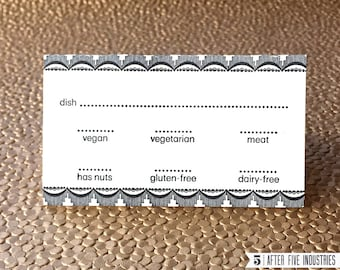 Potluck Dining Cards – Pack of 10 Letterpress